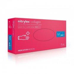 Рукавички нітрилові (рожеві) NITRYLEX COLLAGEN